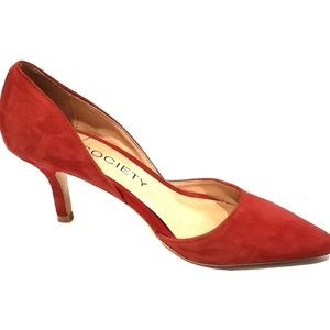 Sole Society Red Suede Pumps